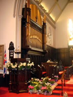 flowers and organ